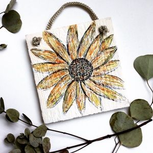 Hand painted Sunflower Sign
